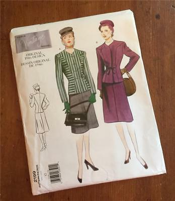 1946 Vintage Design - VOGUE Sewing Pattern 2199 - Size 12 Jacket & Skirt - UNCUT