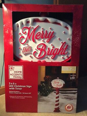 New Christmas Blowmold Merry Sign Outdoor Decor Union Products Repro Lighted