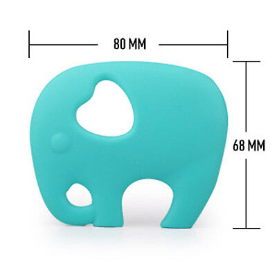 Food Grade Silicone Elephant Teething Pacifier Pendant Soother Teether for Baby