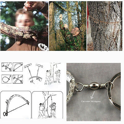 Emergency Survival Stainless Steel Wire Saw Camping Hiking Climbing Gear