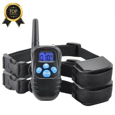300M Waterproof Rechargeable Electric Remote All Size Dog Training Shock Collar