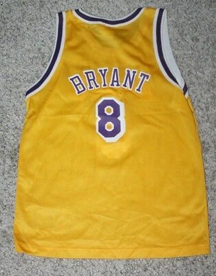 7561e9981ce Vintage Nike KOBE BRYANT Los Angeles LAKERS Champion YOUTH Jersey Medium  10-12