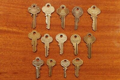 "Vintage BRASS KEY Lot of ""14 of My Best"" CORBIN EAGLE MASTER ATLAS CURTIS #2"
