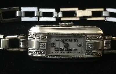 Antique / Vintage Silver Tone HELBROS Lady's Watch - Nice and RUNS!