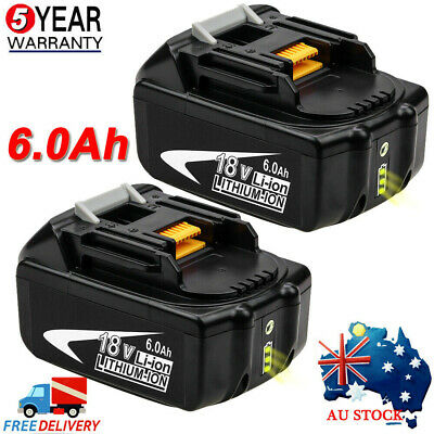 For Makita 18V 6.0Ah BL1830 BL1860 BL1845 LXT BL1840 Li-ion Cordless Battery AU