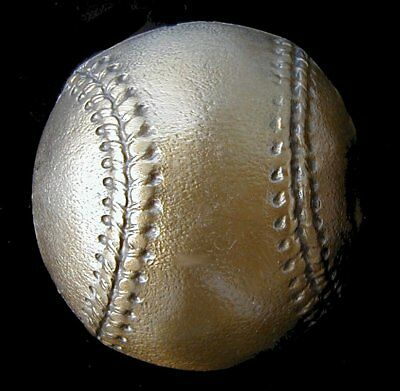Awesome 3D Baseball Belt Buckle Brass Finish Buckles New!