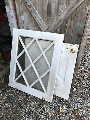 Vintage Solid Wood Dutch Door with Upper Glass Portion