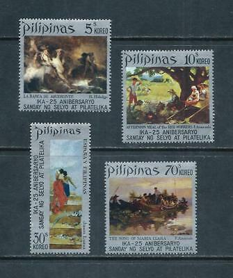 PHILIPPINES _ 1972 'PAINTINGS' SET of 4 _ mlh ____(567)