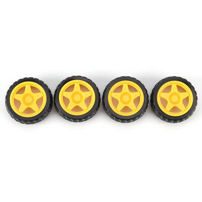 Rubber Wheel Robot Car Accessories Smart Car Tires Chassis Wheels new.