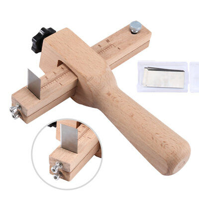 Adjustable Belt Leather Cutter Strap Tool Craft Cutting Wooden Handle DIY Making