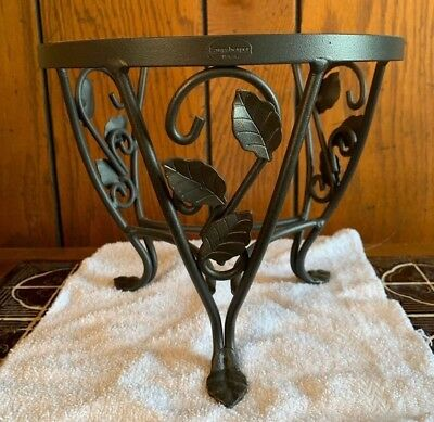 Longaberger At Home Garden Wrought Iron Small Plant Stand For Flora Basket