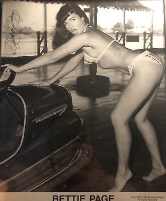 Bettie Page in a Bikini Original Print Signed by Photographer Bunny Yeager