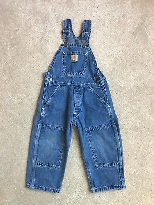 Carhartt Boys Light Weight Denim Overalls 2-3T? see measurements NO SIZE TAG!