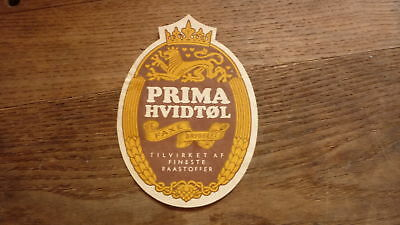 OLD 1950s DENMARK BEER LABEL, FAXE BRYGGERIES, PRIMA HVIDTOL LARGE