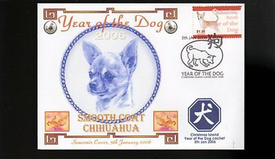 Year Of The Dog Stamp Illustrated Souvenir Cover, Smooth Coat Chihuahua 5