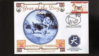 Year Of The Dog Stamp Illustrated Souvenir Cover, Australian Terrier 2