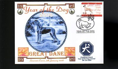 Year Of The Dog Stamp Illustrated Souvenir Cover, Great Dane 2