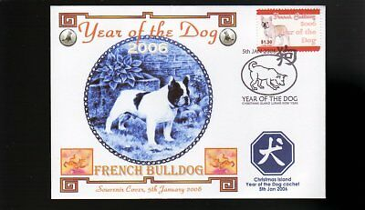 Year Of The Dog Stamp Illustrated Souvenir Cover, French Bulldog 4