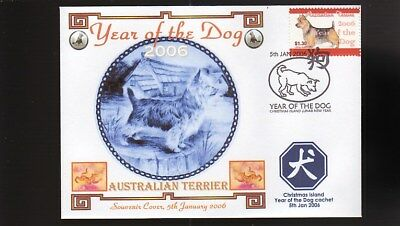 Year Of The Dog Stamp Illustrated Souvenir Cover, Australian Terrier 1