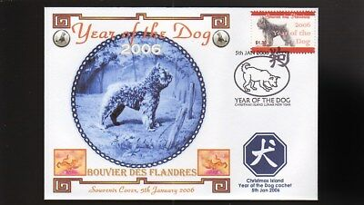 Year Of The Dog Stamp Illustrated Souvenir Cover, Bouvier Des Flandres 4