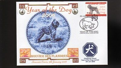 Year Of The Dog Stamp Illustrated Souvenir Cover, Bouvier Des Flandres 5