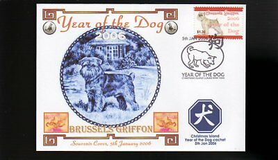Year Of The Dog Stamp Illustrated Souvenir Cover, Brussels Griffon 2