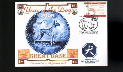 Year Of The Dog Stamp Illustrated Souvenir Cover, Great Dane 1