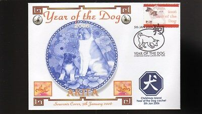 Year Of The Dog Stamp Illustrated Souvenir Cover, Akita 2