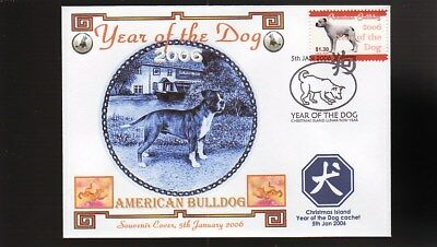 Year Of The Dog Stamp Illustrated Souvenir Cover, American Bulldog 2