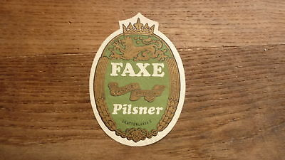 OLD 1950s DENMARK BEER LABEL, FAXE BRYGGERIES, PILSNER 1