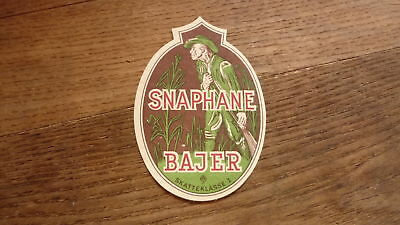 OLD 1950s DENMARK BEER LABEL, FAXE BRYGGERIES, SNAPHANE BAJER