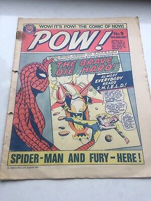 Comic POW (featuring Marvel Characters) No9 18th March 1967