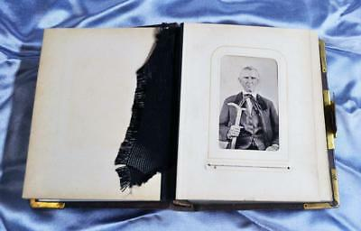 Fabulouse! Antique Civil War/victorian Era Tintype - Cdv Photograph Album
