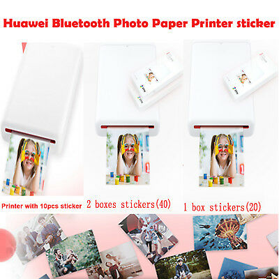 Huawei Bluetooth 4.1 Zink Mini Pocket Photo Printer W/Paper Stickers Share 50mAh