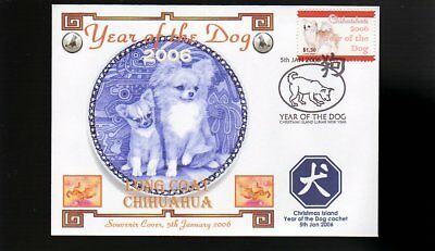 Year Of The Dog Stamp Illustrated Souvenir Cover, Long Coat Chihuahua 2