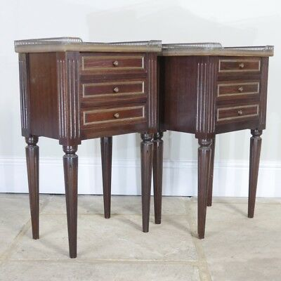 Vintage French Large Pair of Bedside Tables