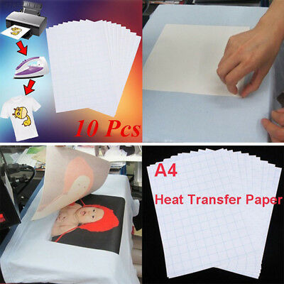 85B7 Iron on Paper T-Shirt Print Paper A4 10 Sheets Picture Inkjet Printers