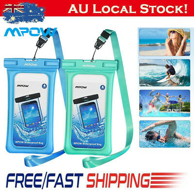 Mpow Floating Underwater Pouch Waterproof Dry Bag Case Cover fr iPhone X Samsung
