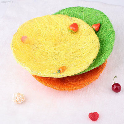 7D9A Easter Eggs Plate Flax Yarn Process Gift Ornaments Decor Party Color Random