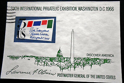 USA - Etats Unis - 1966 5 ¢ Sixth International Philatelic Exhibition ss (1) -