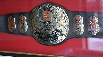 Stone Cold Smoking Skull Championship Replica Title Belt framed