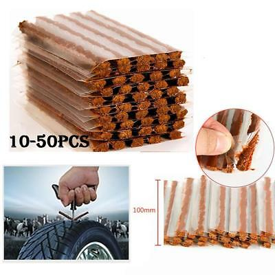 50pcs Car Auto Tyre Tubeless Seal Strip Plug Tire Puncture Repair Recovery Kit