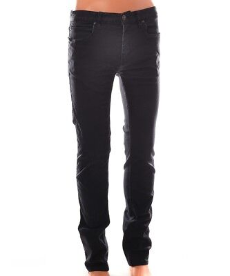 55863127a15 NEW HUGO BOSS Men Red Label Coated Jeans Black Button Fly Slick ...