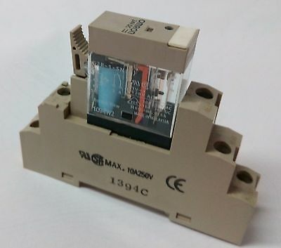 Omron G2R-1-SN(S) 5 pin relay & base + P2RF-05-E 12VDC