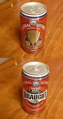 Old Australian Collectable Beer Can, West End Sanfl Central Districts Premiers