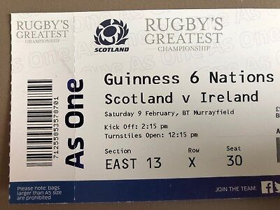 Tournoi des 6 Nations Scotland vs Ireland (Saturday 9 February) - EAST 13 X 30