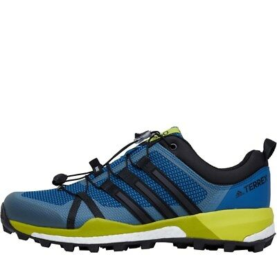 Authentic adidas Mens TERREX Skychaser Trail Running Shoes Core Blue/Core Black/