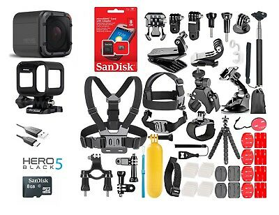 GoPro HERO 5 Session Waterproof 4K 10MP + 40 Pcs Sports Accessories Kit Bundle!
