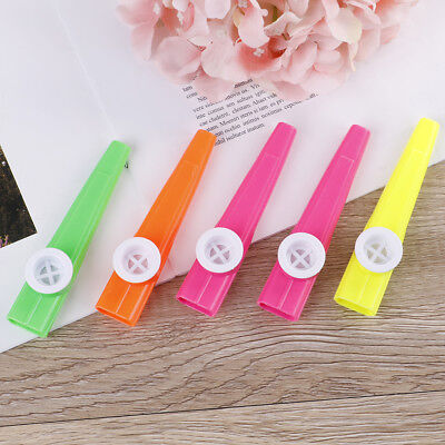 5Pcs Plastic kazoo harmonica mouth flute children party gift musical instrumentW