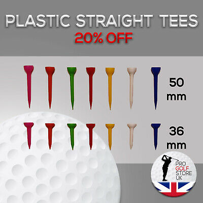 Plastic Golf Tees 36mm 50mm Various Quantities Extra 17%off Unbreakable Tees!